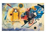 Rojo, amarillo y azul, ca.1925 Lámina giclée de primera calidad por Wassily Kandinsky