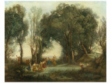 Une Matinee (Danse de Nymphes), 1796-1875 Premium Giclee Print by Jean-Baptiste-Camille Corot