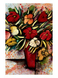 Fall Bouquet Premium Giclee Print by Domenico Provenzano