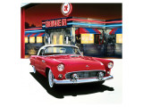 Ford Thunderbird &#39;55 Premium Giclee Print by Graham Reynolds