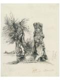 Tree Trunks at La Mare au Clerc Reproduction giclée Premium par Claude Monet