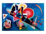 Blå Premium Giclee-trykk av Wassily Kandinsky