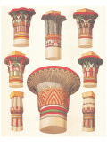 Egyptian Capitals Premium Giclee Print by Owen Jones