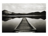 Emigrant Lake Dock I in Black and White Premium Giclee Print by Shane Settle