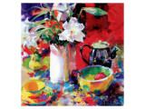Morning Tea Premium Giclee Print by Peter Graham
