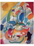 Improvisation nr. 31: Søslag Giclee-tryk i høj kvalitet af Wassily Kandinsky