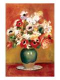 Flowers in a Vase Premium Giclee Print by Pierre-Auguste Renoir