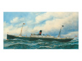 Danish Steamship Premium Giclee Print by Antonio Jacobsen