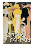 Cordial Campari Premium Giclee Print by Marcello Dudovich