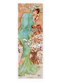 Winter Premium Giclee Print by Alphonse Mucha