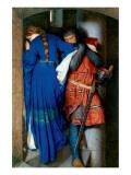 Meeting on Turret Stairs Premium Giclee-trykk av Frederick William Burton