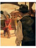 Romance on the Pier Giclee-tryk i høj kvalitet af Graham Reynold