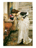 The Shrine Lmina gicle de primera calidad por John William Waterhouse