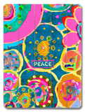 Peace Batik Wood Sign