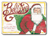 Believe Santa Wood Sign