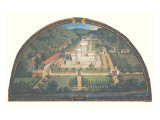 Villa di Cafaggiolo Reproduction proc&#233;d&#233; gicl&#233;e Premium par Giusto Utens