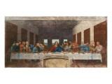 Det siste måltid, ca. 1498 Premium Giclee-trykk av  Leonardo da Vinci
