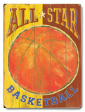 All Star Basketball Wood Sign