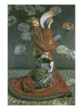The Japanese Woman Premium Giclee Print by Claude Monet
