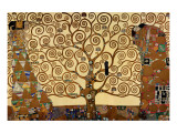 De levensboom Premium giclée print van Gustav Klimt