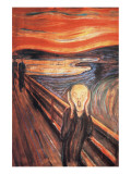 Skrik Premium Giclee-trykk av Edvard Munch