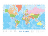 Map of the World Premium Giclee Print