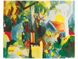 Landscape Giclee-tryk i høj kvalitet af Auguste Macke