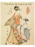 Courtesan Somenosuke of Matsubaya Premium Giclee Print by Hosoda Eishi