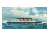 Lusitania, c.1908 Premium Giclee Print by Antonio Jacobsen