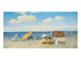 At the Seaside, c.1892 Premium Giclee Print by William Merritt Chase