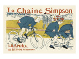 The Simpson Bicycle Chain Premium Giclee Print by Henri de Toulouse-Lautrec