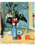 Blue Vase Giclée-Premiumdruck von Paul Cézanne