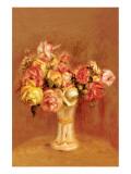 Roses in Sevres Vase Premium Giclee Print by Pierre-Auguste Renoir