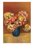 Chrysanthemums Premium Giclee Print by Pierre-Auguste Renoir
