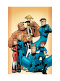 Fantastic Four And Power Pack No.1 Cover: Thing Posters by Gurihiru