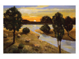 A Day Ending at the Lake Lámina giclée premium por Judith D'Agostino