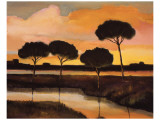Sunset over the Arno River Lámina giclée premium por Judith D'Agostino