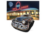 Pontiac Chieftain '50 at The Circle Diner Premium Giclee Print by Graham Reynold