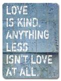 愛はやさしい-ミニ 木製看板