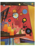Kraftig rød Giclee-tryk i høj kvalitet af Wassily Kandinsky