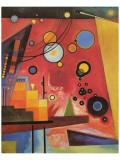 Schweres Rot Giclée-Premiumdruck von Wassily Kandinsky