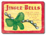 Jingle Bells, Holiday Cartel de madera