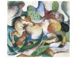 Springendes Pferd Premium Giclee Print by Franz Marc