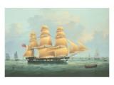 British Merchantman Ship Premium Giclee Print by Samuel Walters