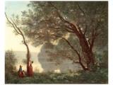 Paysage (Souvenir de Mortefontaine), 1796-1875 Premium Giclee Print by Jean-Baptiste-Camille Corot
