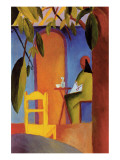 Turkish Cafe II Premium Giclee Print by Auguste Macke