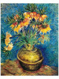 Crown Imperial Fritillaries in a Copper Vase, c.1886 Giclée-Premiumdruck von Vincent van Gogh