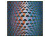 Squares Premium Giclee-trykk av Victor Vasarely