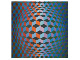 Squares Premium Giclee Print by Victor Vasarely