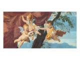 La Sainte Famille (detail) Giclee-tryk i høj kvalitet af Nicolas Poussin